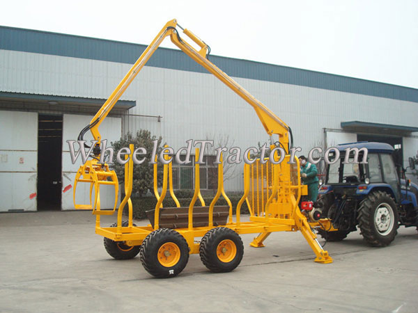 Timber Trailer With Crane